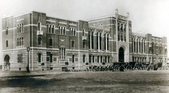 Historical image of Lovett Hall at Rice University